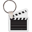 "Clapper Key Tag - Clapper shaped key tag that measures 1.65"" W x 1.85"" H"