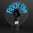 Black Preprogrammed Message Fans with Blue LEDs