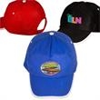 Sport Trim Non-Woven Cap - Five panel high profile constructed non-woven polypropylene hat.