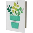 Recycled Greeting Card with Seed Paper Shape (4x5.25 folded)