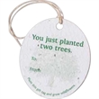 Oval Seed Paper Product Tag