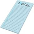 "Custom Printed Notepad - Notes - 2 3/4"" x 6"", 50 sheets, 1 color - custom printed notepads."