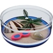 Beach Compartment Coaster Caddy - USA made Compartment Coaster Caddy, Beach theme. Miniature products in sealed compartment in the base.