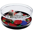 Casino Compartment Coaster Caddy - USA made Coaster Caddy, Casino theme. Miniature products in sealed compartment in the base.