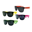 Kids Classic Neon Sunglasses - Kid's plastic sunglasses with black frames, neon stems and UV400 protection.