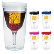 Vino2Go (R) Wine Glass - 10 oz - 10 ounce tumbler with wine glass shaped inner wall.