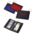 Nylon Keyring Wallet With Clear And Exterior Pockets