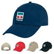 Natural Brushed Twill Cap - Six-panel natural brushed twill cap; one size fits most.