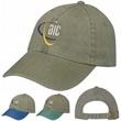 Stonewashed Cap - Cotton twill garment stonewashed cap with 6 panels.