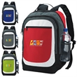 Kaleido Backpack - Kaleido Backpack with dual zippered main compartments and front zippered pocket.