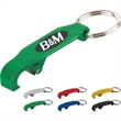 Beverage Opener with Key Ring - Beverage opener key ring, opens bottles and pop top cans.