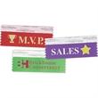 "Custom Award Ribbon - 3 1/2"" x 1 5/8 custom award ribbon. 1-color foil stamp."