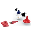 Spinner USB 2.0 Flash Drive - Fun spinning top that functions as a USB 2.0 flash drive.