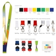"""3/8"""" Polyester 4 color Lanyard"""