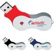 Infinity USB 2.0 Flash Drive - USB 2.0 flash drive. Unattached black lanyard included.