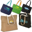 Eco-Green Jute Tote - Jute tote bag, made from jute, a natural vegetable fiber.