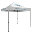 ShowStopper Premium 10-ft Square Tent - Premium 10' square tent with full-color thermal imprint, with silver frame.