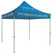 ShowStopper Premium 10-ft Square Tent Dye-Sublimation - Premium 10' square tent with full-color, full bleed dye-sublimation imprint.