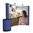 10' Show 'N Rise Curved Floor Display - Pop-up display kit with dye-sub mural panel and fabric ends.