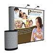10' Show 'N Rise Straight Floor Display - Pop-up display kit with dye-sub mural panel and fabric ends.