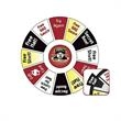 Spin 'N Win Prize Wheel Graphics Only - Prize wheel graphic inserts only.