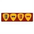 Guitar Pick Strip with 4 Picks - Bookmark with guitar picks.