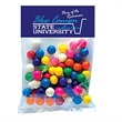 "Gumballs in Lg Header Pack - Large header pack filled with gumballs; includes a 3"" x 5"" four color process header card;"