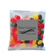 "Standard Jelly Beans in Sm Label Pack - 4"" x 4: small pack filled with 2 oz. of standard jelly beans; includes four color process label."