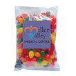"Standard Jelly Beans in Lg Label Pack - 5"" x 5"", 4 oz. label packs filled with Jelly Belly® jelly beans; includes four color process label for branding opportunities."