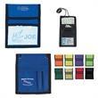 Nylon Neck Wallet Badge Holder - Neck wallet badge holder with clear plastic badge window, 420 denier nylon.