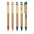 Eco Inspired Pen - Eco-friendly pen with recycled paper barrel and wooden clip.