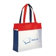 Eco-Frosted Shopping Tote - Eco-Frosted tote bag with ease access large compartment with velcro closure.