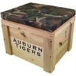 Pine wood cooler with a comfortable seat cushion