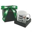 Full Color 11oz mug in deluxe black gift box with ribbon