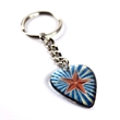 Custom Guitar Pick Key Chain - Guitar pick key chain with single-sided, translucent, full color or printed imprint.