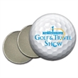 """Full color domed 1"""" Golf Ball Marker on Strong Magnet Pin - Three-piece golf ball marker with two super strength magnets and a full color domed imprint."""
