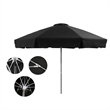 9 FT Commercial Umbrella - 9 ft., 8 panel commercial-grade umbrella with fade-resistant fabric, aluminum frame, fiberglass ribs, 2-piece bottom pole, etc.