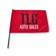"""Waving Rally Flag 27.5"""" x 19.5"""" with 24"""" pole 110 Polyester"""