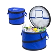 Collapsible Party Cooler Tub - Poly canvas large insulated party cooler tub holds 48 cans and is collapsible.
