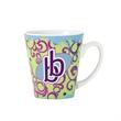 12 oz Funnel Shaped Sublimation Mug - ceramic mug