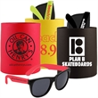 CAN HOLDER SUNGLASSES KIT - Can holder and sunglasses set.