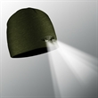 POWERCAP LED Lighted Beanie Hats (Olive) - Olive 100% Compression Fleece, blank