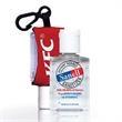 0.5 oz hand sanitizer with custom leash - .5 oz hand sanitizer custom leash.
