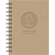 """EcoBooks (TM) - Small EcoNotes Notebook - 5"""" x 7"""" Small journal made from post consumer 100% recycled cover materials & filler paper."""