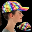 Rainbow Sequin LED Baseball Hat - Our rainbow sequin LED baseball cap features bright white LEDs and three different light functions.
