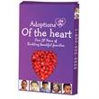 Custom Window Heart Box filled with Cinnamon Red Hots Candy - Custom window heart box filled with cinnamon red hots.