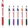 The Cougar Rubber Grip - White barrel ballpoint pen with rubber grip.