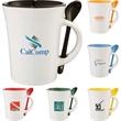 Dolce 10-oz. Ceramic Mug with Spoon