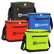 "Large Vertical 12+ Can Cooler - 10.5"" x 10.25"" vertical cooler with shoulder strap and PEVA lining that can hold water bottles and sports drinks upright."