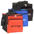"Economy 24 Can Cooler - 9.5"" x 10.5"" insulated cooler bag that's heat-sealed and leak-proof with PEVA lining, front zipper pocket and shoulder strap."